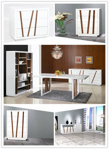 Wholesale Dining Room Furniture: Modern High Gloss Dining Room Sets Furniture