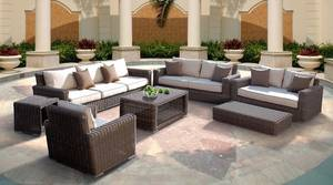 Wholesale paper table cover: Popular Model 2017 Poly Rattan Furniture Relax Sofa Set