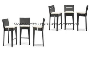 Wholesale rattan: New Style 2017 Poly Rattan Furniture Bar Sets