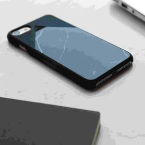Wholesale natural light: Thin and Light Natural Marquina Marble Phone Case with Screen Protector Cases for IPHONE7 Plus