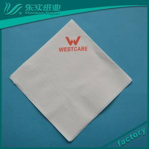 Wholesale Paper Napkins & Serviettes: Factory Wholesale Custom Logo Printed Cocktail Paper Serviettes Elegant Paper Napkin