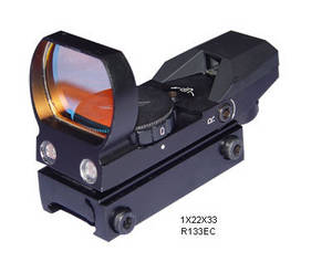 Wholesale red dot: Tactical 1X22X33 Multi-Purpose Reticle Red Green DOT Sight 20mm Rail for Airsoft Hunting Rifle Sight