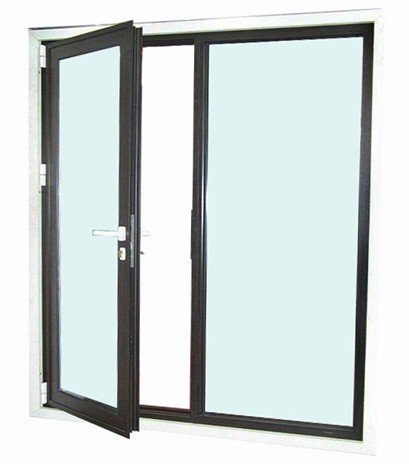 Aluminum double doors exterior for Aluminum french doors