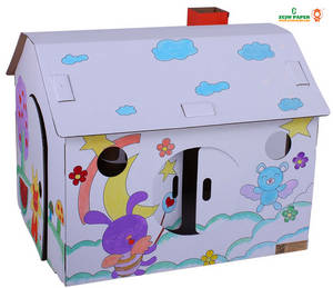 Wholesale Toy Parts: Paper Play House for Kids Toy House Cardboard House