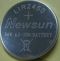 LIR2450  3.6v Rechargeable Li-ion Coin Cell Battery