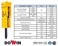 Hydraulic Breaker/ Demolition Machine[Open Type-DW15G]