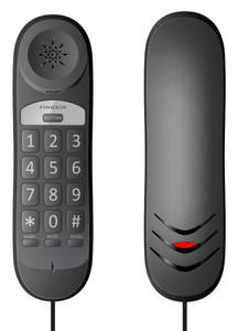 Wholesale hotel telephone: Basic Corded Bath Telephone Slim Telephone Hotel Telephone(ESN-626)