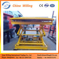 China Factory Supply Hydraulic Scissor Lift Stage Stationary Motorized Rotary Stage