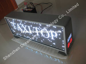 Wholesale russia: Russia Taxi Advertising LED Display Wireless Control
