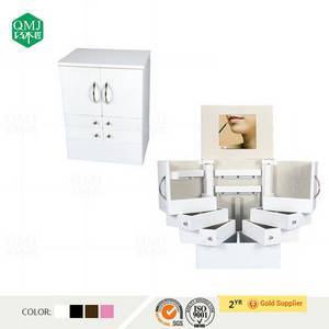 Wholesale mirror cabinet: 2015 China Factory Dressing Storage Wooden Jewelry Makeup Cabinet Mirror