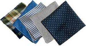 Wholesale hangings: Knitted Pocket Square Cotton