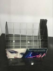 Wholesale eyeliner: Top Selling Acrylic Pencil Display 24holes Eyeliner Pen Display