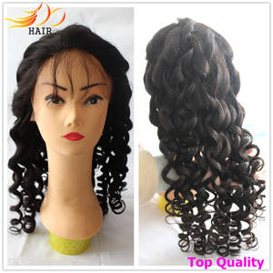 Wholesale full lace wigs: 100% Real Human Hair Wig Full Lace and Lace Front Cap with Baby Hair No Tangle Soft