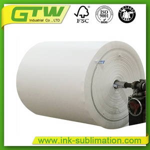 Wholesale online: 60g Low Coated Jumbo Sublimation Paper Roll  for Mass Production