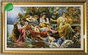 Wholesale tapestry: Classic European Legend Flora Silk & Wool Tapestry