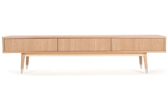 Scandinavian And Contemporary Oak Or Ash Or Beech TV Stand