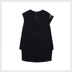 Wholesale Ladies' Blouses: One Shoulder Strap Black Blouse