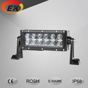Wholesale car accessories: High Intensity Automotive Dual Row 7inch 36w 12v 24v DC LED Light Bar Car Accessories EK-6003E-36W