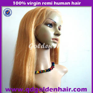 Wholesale wig: Golden Hair High Quality Virgin Remy Human Hair Wholesale Wigs