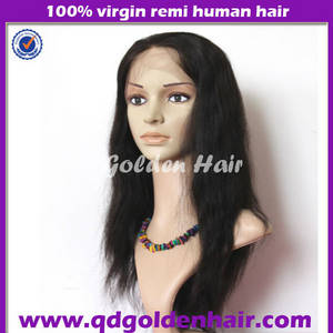 Wholesale full lace wigs: Golden Hair High Quality Virgin Remy Full Lace Brazilian Wig
