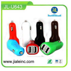 Wholesale Mobile Phone Chargers: TOP Quick Charger 2.0 Newest Mobile Car Charger Dual Port 5V 2A Vehicle Charger
