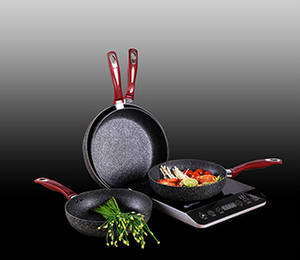 Wholesale plastic label: High Quality Customizable Non-stick Italian Polenta Elmich Frypan