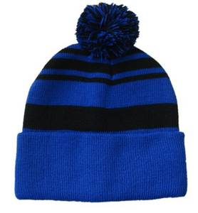 Wholesale winter hat: Winter Custom Knitted Beanie Hat with Ball Top