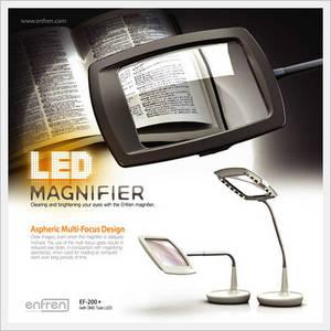 Wholesale non electrical power system: LED Magnifier Desk Lamp EF-200