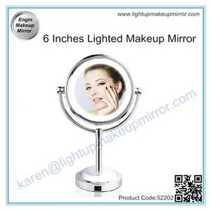 Wholesale makeup: 6 Inches Lighted Makeup Mirror