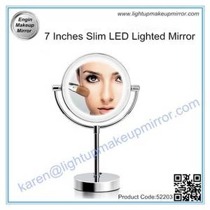 Wholesale led lighting: 7 Inches Slim LED Lighted Mirror