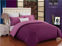 Healthy Bedding Set Embroidery Duvet Cover Sets 4PCS with Fitted Sheet