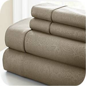 Wholesale bed sheets twin: S3- Embossed Bed Sheet Set
