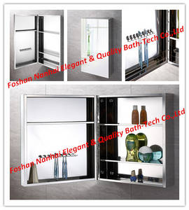 Wholesale toothbrush: Stainless Steel Toothbrush Mirror Cabinet