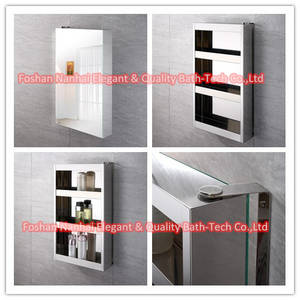 Wholesale mirror cabinet: Stainless Steel Rotating Mirror Cabinet