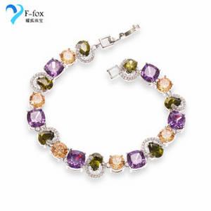 Wholesale gold bracelets: Fashion White Gold Cubic Zirconia Tennis Bracelets