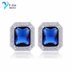 Wholesale diamond earrings: Diamond Design Jewelry Square Girls Earrings Stud