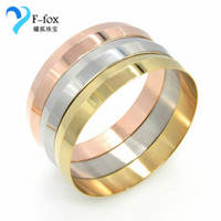 Gold Plated Titanium Bangles Simple Design Bracelets