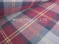 100% Cotton Yarn Dyed Fabric, Twill Weave, Check Brushed ...