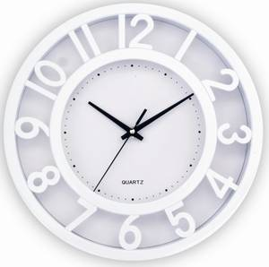 Wholesale Wall Clocks: First Time Raised Number Wall Clock 12 Inch Clock