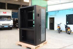 Wholesale glass cabinet: 600*1200*2000mm High Quality Sheet Metal Electrical Network Cabinet Rack Enclosure with Glass Door