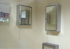 Wholesale mirror cabinet: Modern Stainless Steel Bathroom Vanity Solid Cabinet with Mirror and Medicine Box