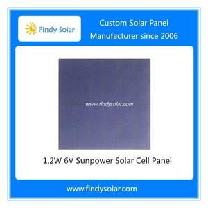 Wholesale solar cell: 1.2W 6V Sunpower Solar Cell Panel