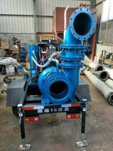 Wholesale large capacity water pump: HW Mobile Mix Flow Diesel Water Pump