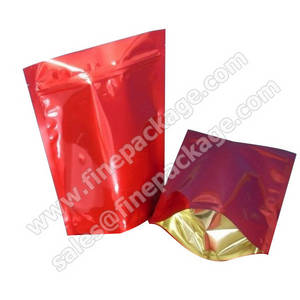 Wholesale stand up plastic bags: Customized Stand Up Ziplock Plastic Coffee Packaging Bag