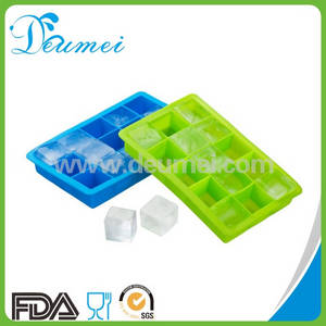 Wholesale silicone tray: Food Grade 15 Cavities Mini Square Silicone Ice Cube Tray