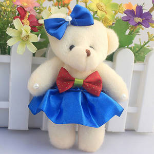 Wholesale plush toys: 11cm Soft Mini Teddy Bear Toys for Children Plush Doll Birthday Gifts Wedding Bouqets