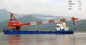 Wholesale t: Floating Crane 200t 200 Ton Crane Barge Sell Supply Supplier