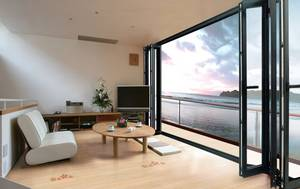 Wholesale glass door: Modern House Design Glass Folding Doors and Windows with Germany Famous Brand Hardware