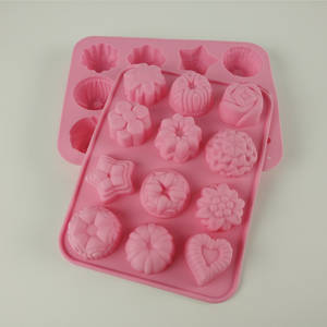 Wholesale silicone tray: Silicone Ice Cube Flower Shape Tray,Ice Cube Tray,Baking Tools,Silicone Ice Mould
