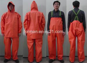 Wholesale hard pvc sheet: Rainwear (Model R), Orange Color